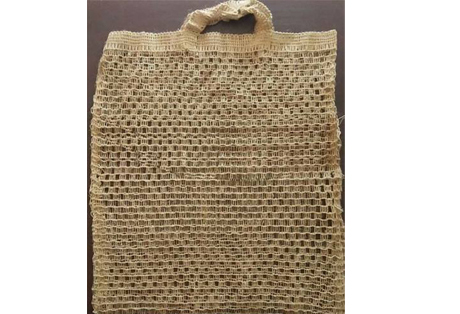 Shopping bag of Net Jute Fabric