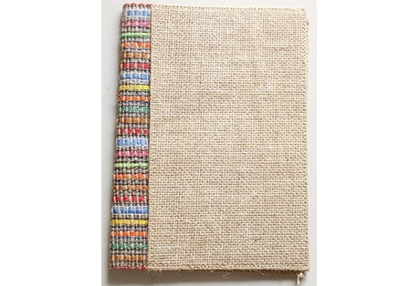 Notebook of Handmade Paper and Jute Fabric