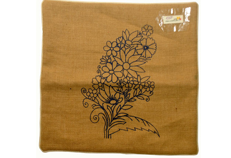 Cushion Cover of Soft Jute with Screen Print