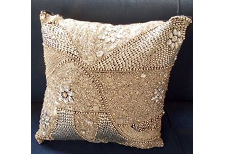 Cushion Cover of Stone Embroidery