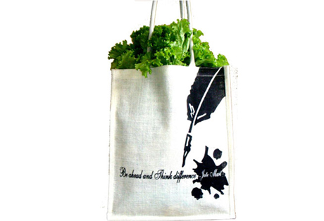 Shopping Bag of Jute with Print