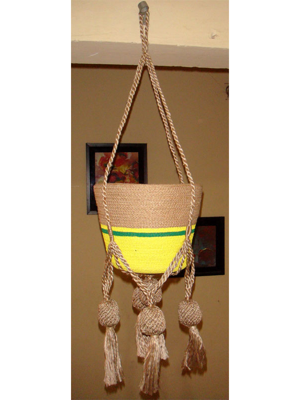 Hanging Planters of Jute Yarn