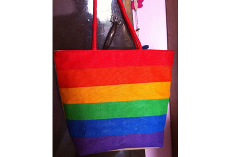 Rainbow Bag of Fine Jute