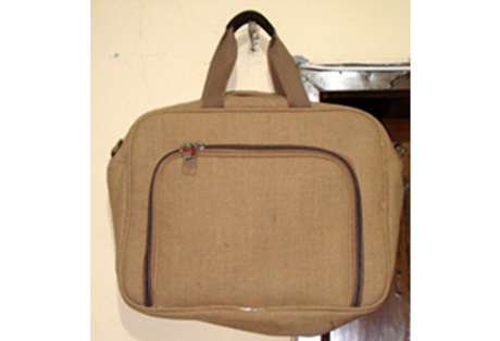 Laptop Bag with soft Jute
