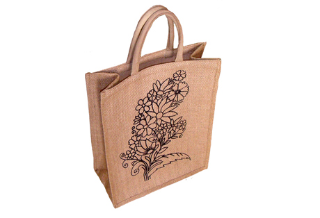 Shopping bag of Natural Fine Jute Fabric