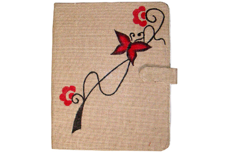 Hand Painted File Folder of Fine Jute